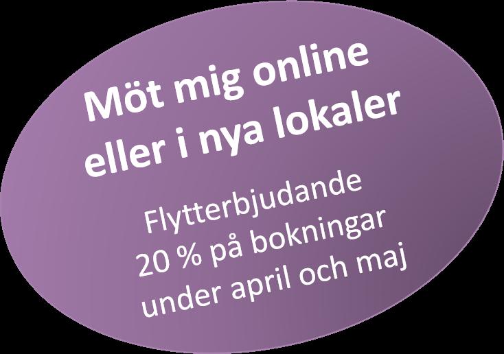 Samtalsterapi - erbjudande april maj
